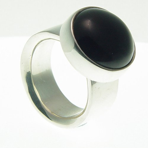 Ring Onyx Round Small